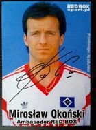 Miroslaw Okonski (Hamburger SV) with autograph copy