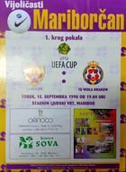 NK Maribor - Wisla Cracow UEFA Cup match (15.09.1998) programme