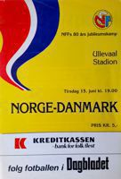 Norway - Denmark Nordic Championships official match programme (15.06.1982)