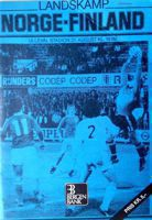 Norway - Finland Nordic Championships match official programme (21.08.1980)