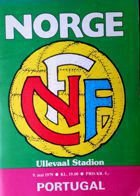 Norway - Portugal UEFA European Championship qualification match programme (09.05.1979)