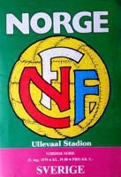 Norway - Sweden Nordic Championships official match programme (15.08.1979)