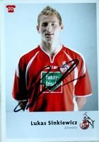 Photo Lukas Sinkiewicz (1. FC Köln) with original autograph