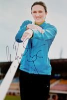Photo of Monika Pyrek (athletic) with original autograph