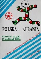 Poland - Albania FIFA World Cup qualyfing match programme (19.10.1988)