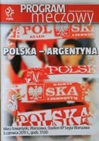 Poland - Argentina (05.06.2010) - Official programme of friendly match