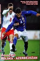 Poland - Azerbaijan Euro 2008 qualification match official programme (24.03.2007)
