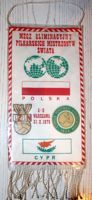 Poland - Cyprus (31.10.1976) qualyfing match of FIFA World Cup 1978 pennant