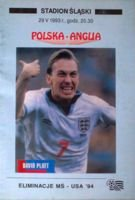 Poland - England (29.05.1993) - World Cup 1994 qualification official match programme