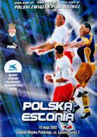 Poland - Estonia friendly match official programme (18.05.2002)