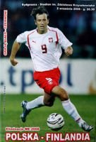 Poland - Finland Euro 2008 qualification match official programme (02.09.2006)