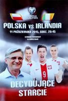 Poland - Ireland Euro 2016 qualification match official programme