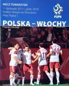 Poland - Italy friendly match official programme (11.11.2011)