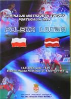 Poland - Latvia (12.10.2002) - Euro 2004 qulification match official programme