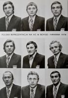 Poland National Team of Boxing World Championships Havana 1974 postcard