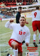 Poland - Norway World Cup 2002 qualification match official programme (01.09.2001)