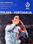 Poland - Portugal friendly match official programme (29.02.2012)
