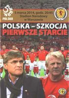 Poland - Scotland (5.03.2014) - friendly official match programme