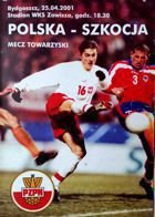 Poland - Scotland friendly match official programme (25.04.2001)