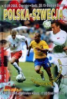 Poland - Sweden Euro 2004 qualification match official programme (10.09.2003)