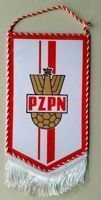 Polish Football Association pennant with old logo