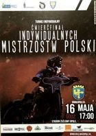 Polish Individual Speedway Championship Quarterfinal official programme (16.05.2013, Opole)