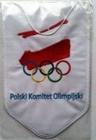 Polish Olympic Committee pennant (big)