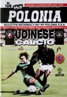 Polonia Warsaw - Udinese Calcio UEFA Cup official match programme (14.09.2000)