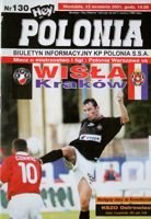 Polonia Warsaw - Wisla Cracow I league (23.09.2001) official programme