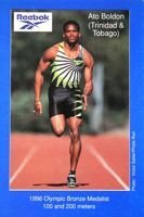 Postcard Ato Boldon (athletics)