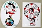 Postcard Mundzia and Polish football players caricatures FIFA World Cup 1978