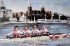 Postcard Poland quadruple sculls (Summer Olympic Games Beijing 2008 golden medal)