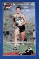 Postcard Roger Black (athletics)