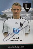 Postcard of Jakub Rzezniczak (Legia Warsaw) with original autograph