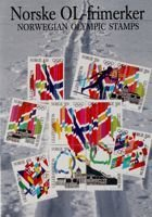 Postcard of the Norwegian Olympic Stamps Lillehammer 1994
