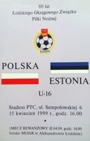 Program Poland - Estonia U16 (15.04.1999)