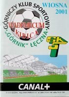 Programme Guide GKS Gornik Leczna spring round II league 2001
