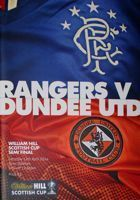 Rangers FC - Dundee United Scottish Cup Semi Final programme (12.04.2014)