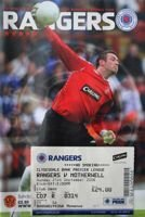Rangers FC - Motherwell FC Premier League official programme (21.09.2008) + ticket