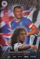 Rangers FC - Newcastle United friendly match programme (06.08.2013)