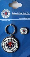 Rangers FC badge & key ring set (official licensed product)
