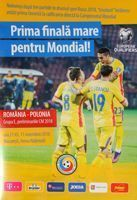 Romania - Poland FIFA World Cup 2018 qualifying match programme (11.11.2016)