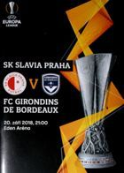 SK Slavia Prague - FC Girondins de Bordeaux UEFA Europa League (20.09.2018) official programme