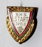 SKS Start Opole with garland (enamel)