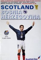 Scotland - Bosnia and Herzegovina UEFA European Championship qualifying match programme (05.10.1999)