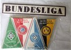 Set of 18 Bundesliga football clubs small pennants