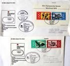 Set of 2 FDC Envelopes of Olympic Games Montreal 1976. Flight of Germany national team (Germany)