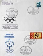 Set of 2 FDC Envelopes of Olympic Games Montreal 1976 Philately Exhibition (Germany)