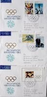 Set of 3 FDC Envelopes of XIII Winter Olympic Games Lake Placid 1980 (East Germany)