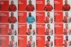 Set of 36 Postcards of Feyenoord Rotterdam team season 2019/2020 (official product)